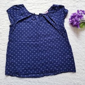 Lilly Pulitzer Zipper Back Blouse Size S in Blue